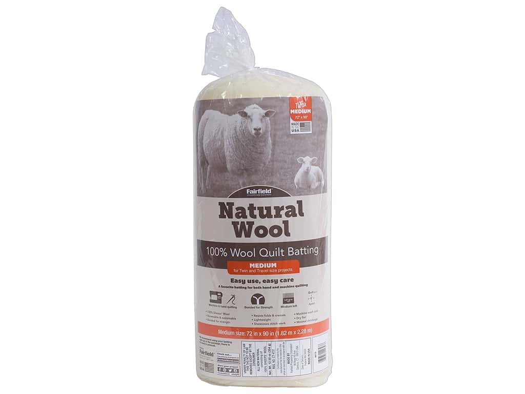 Fairfield Batting Wool 72 in. x 90 in.