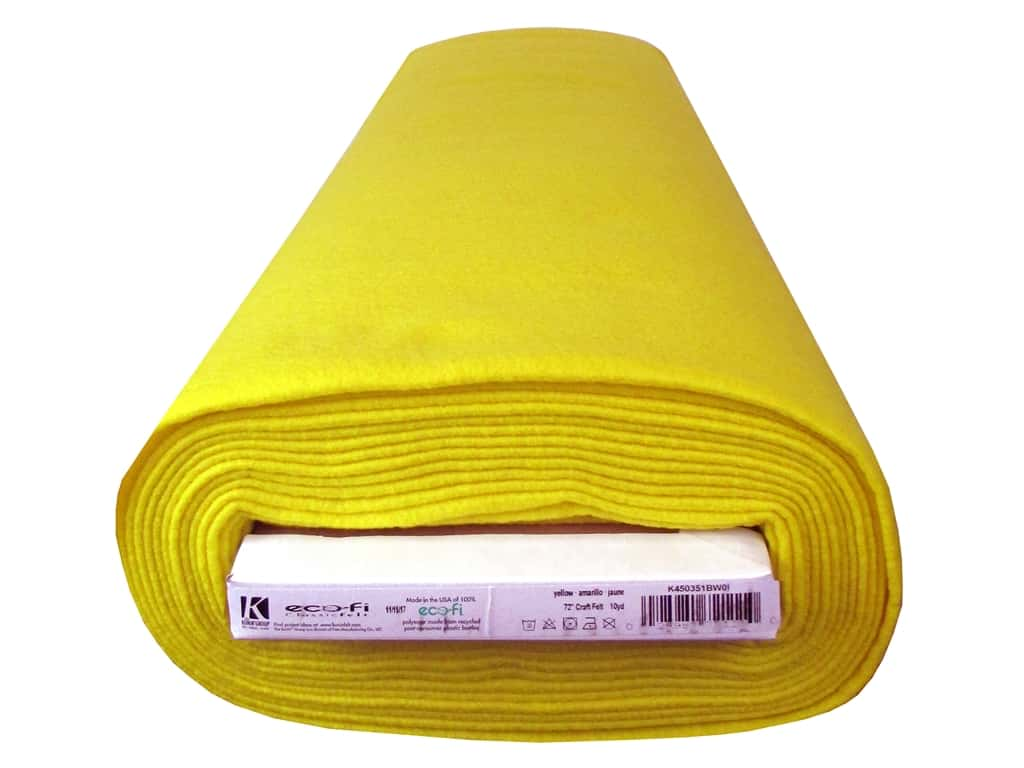 Kunin Rainbow Classic Felt 72 in. x 10 yd Bolt Yellow (10 yards)