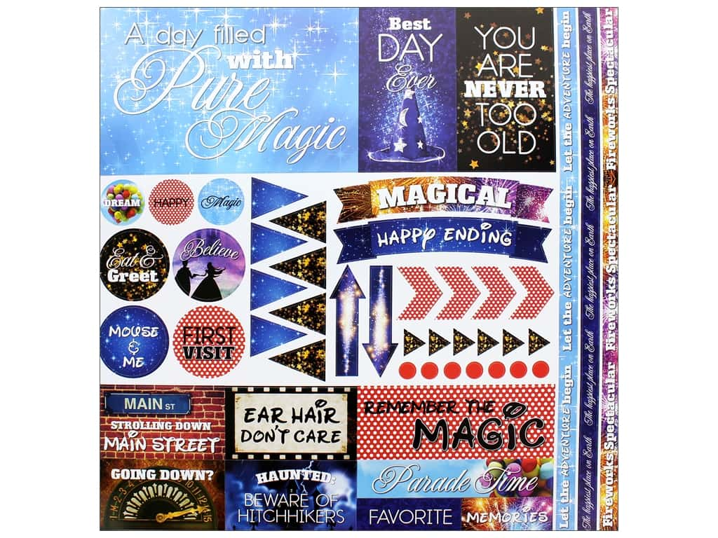 Reminisce Collection Real Magic Sticker 12 in. x 12 in. Elements