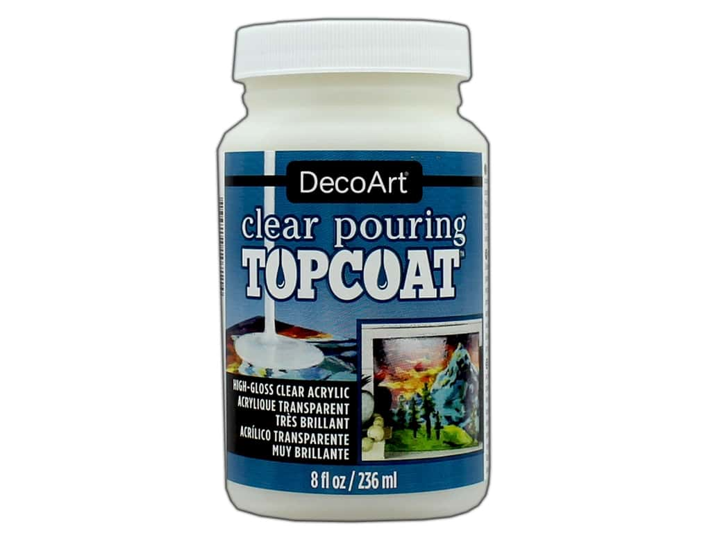 DecoArt Clear Pouring Topcoat 8 oz.