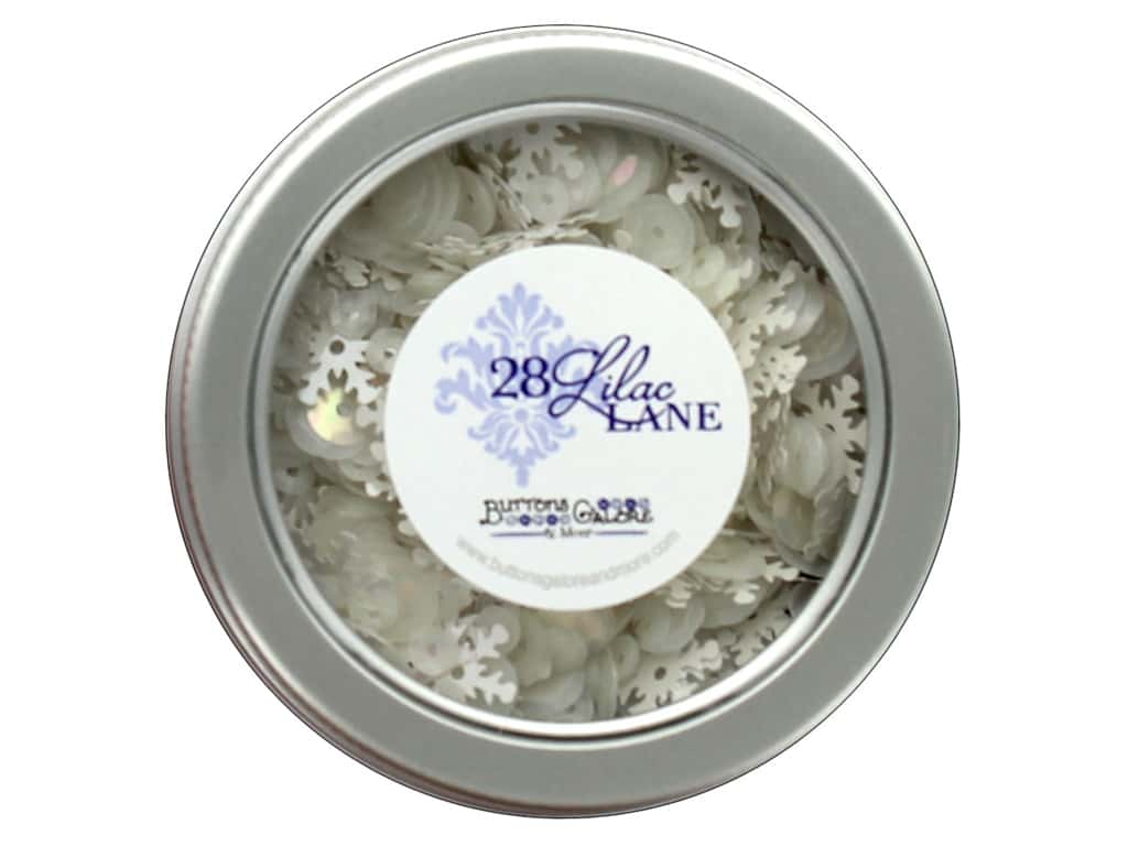 Buttons Galore 28 Lilac Lane Sequin Tin Blizzard