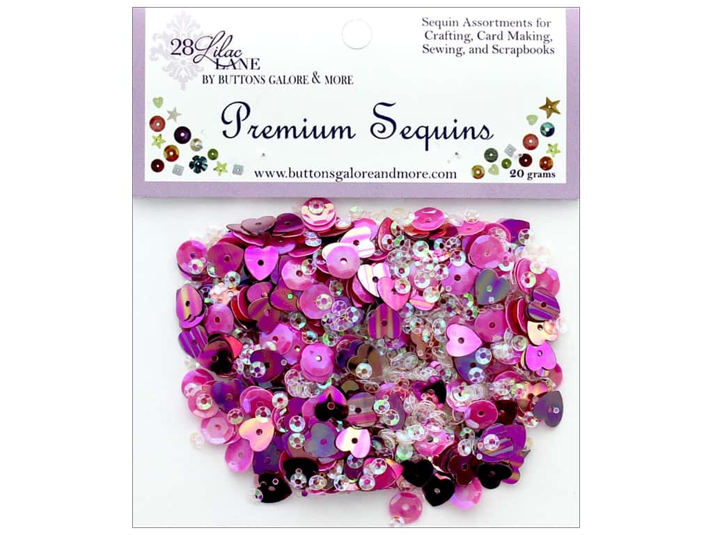 Buttons Galore 28 Lilac Lane Premium Sequins Bloom
