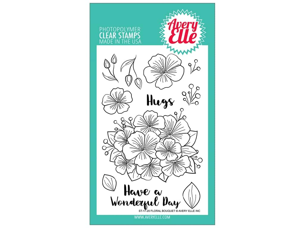 Avery Elle Clear Stamp Floral Bouquet