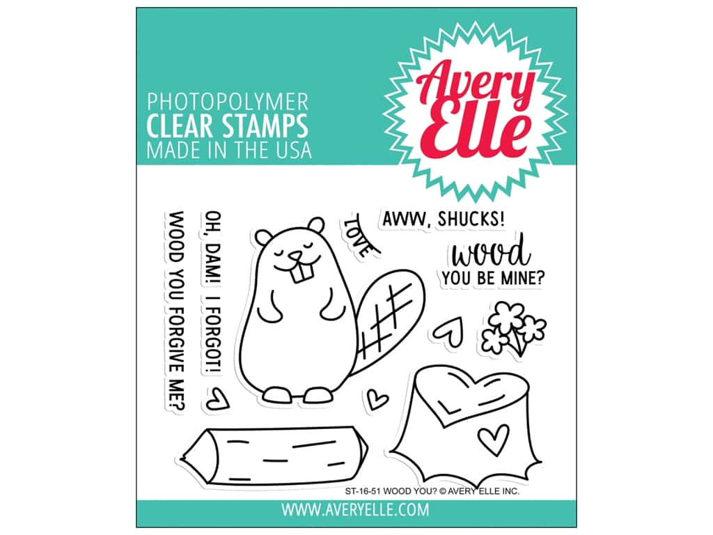 Avery Elle Clear Stamp Wood You