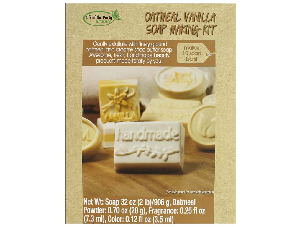 Life Of The Party Soap Making Kit Vanilla Oatmeal