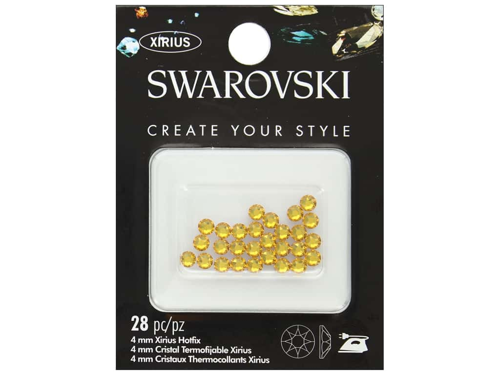 Cousin Swarovski Hotfix 4 mm Sunflower 28 pc