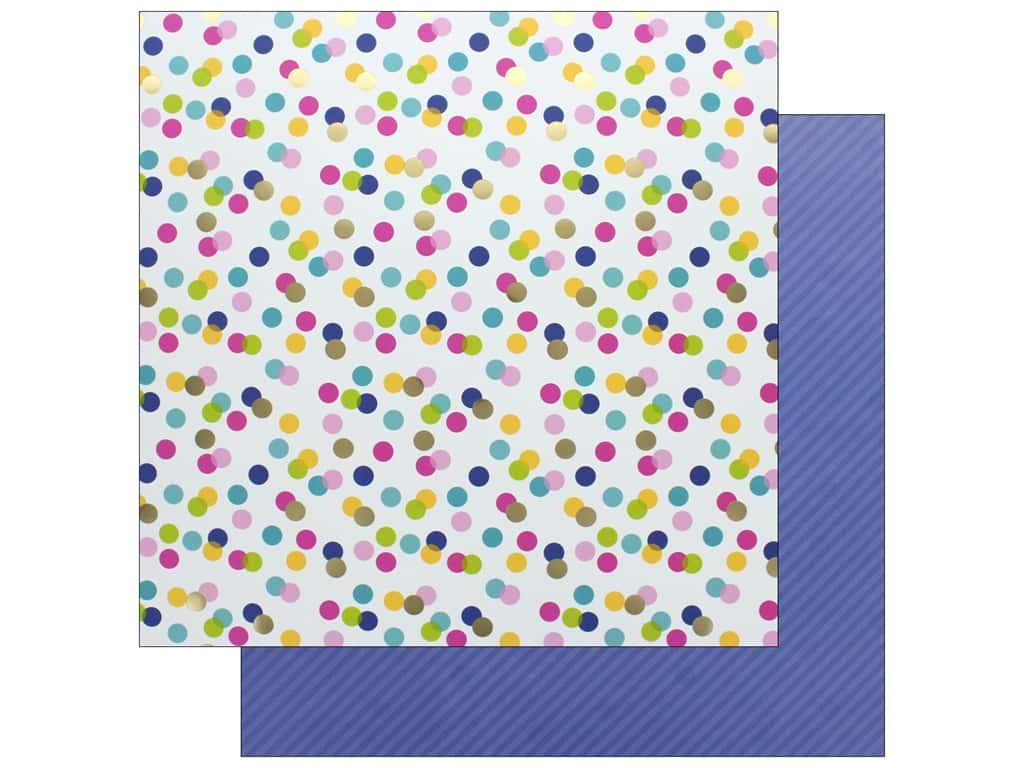 Doodlebug Collection Hello Paper 12 in. x 12 in. Foil Garden Party (25 pieces)