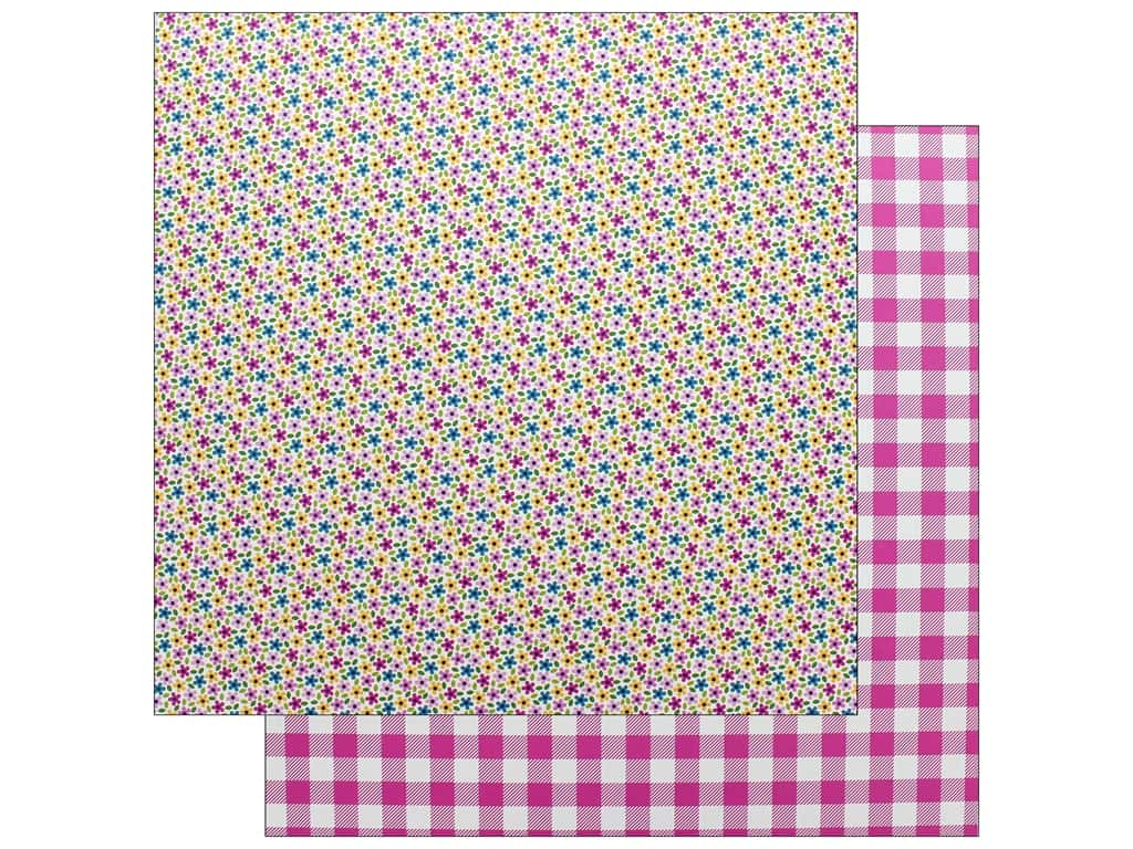 Doodlebug Collection Hello Paper 12 in. x 12 in. Tickled Pink (25 pieces)