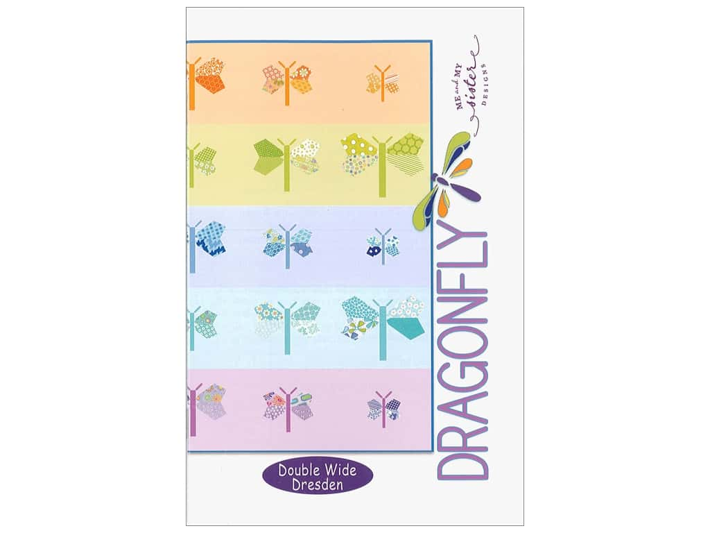 Me and My Sister Designs Dragonfly Double Wide Dresden Pattern