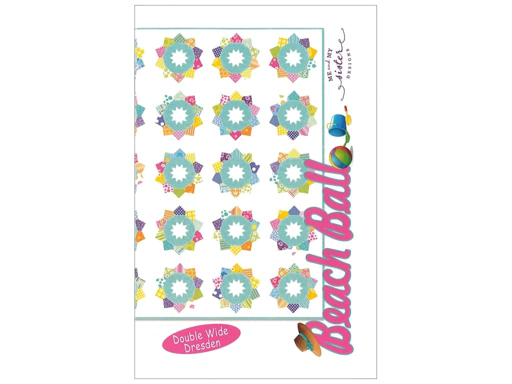 Me and My Sister Designs Beach Ball Double Wide Dresden Pattern