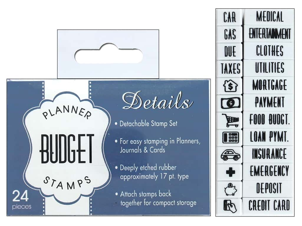 Contact USA Clickable Stamp Set Planner Details Budget 24 pc