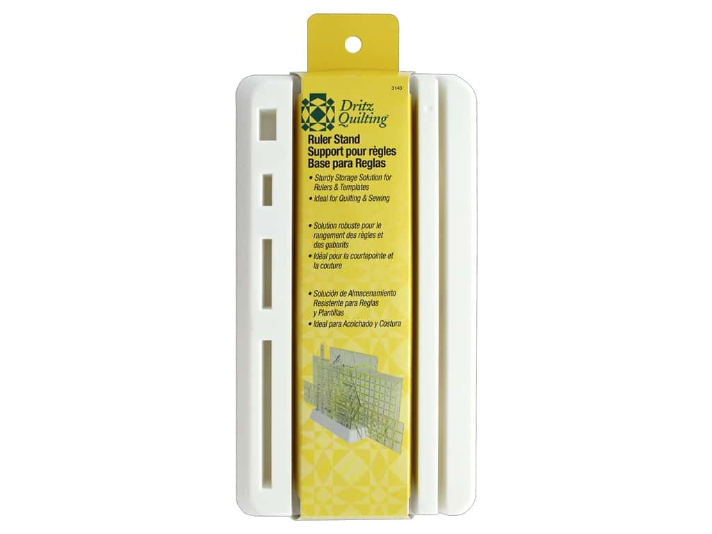 Dritz Quilting Ruler Stand 10 Slots White