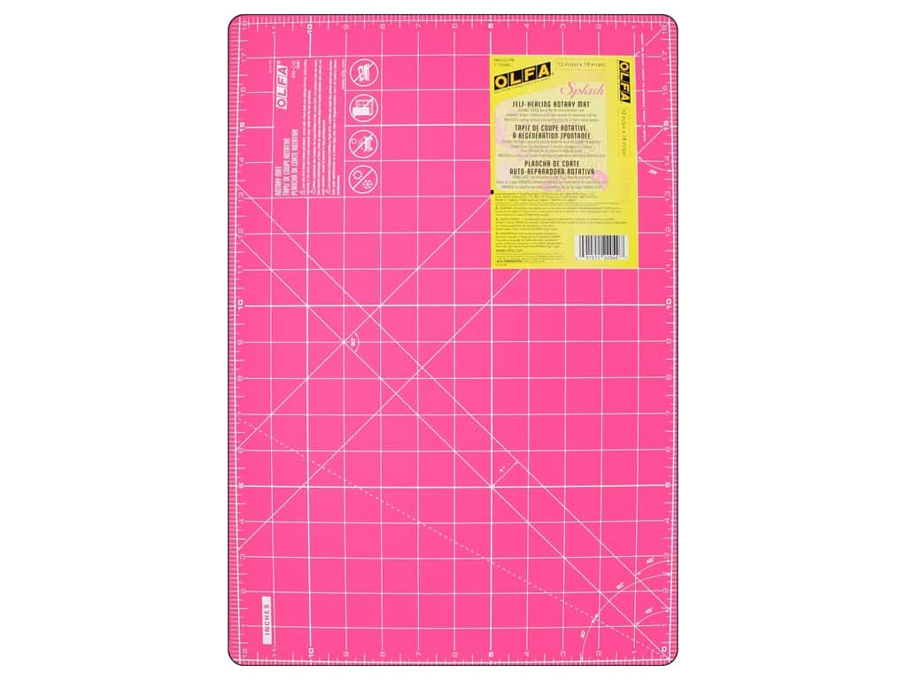 Olfa Rotary Mat 12 in. x 18 in. Pink