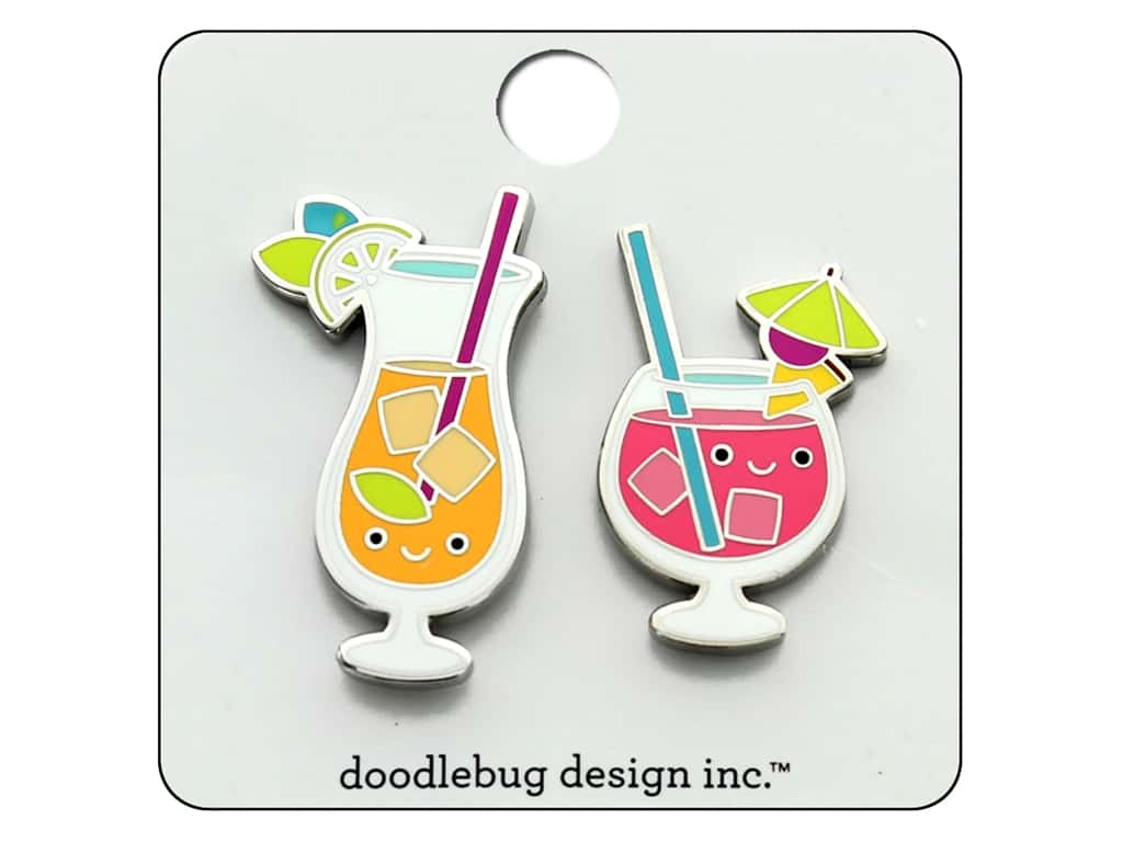 Doodlebug Collection Sweet Summer Collectible Pin Paradise Punch