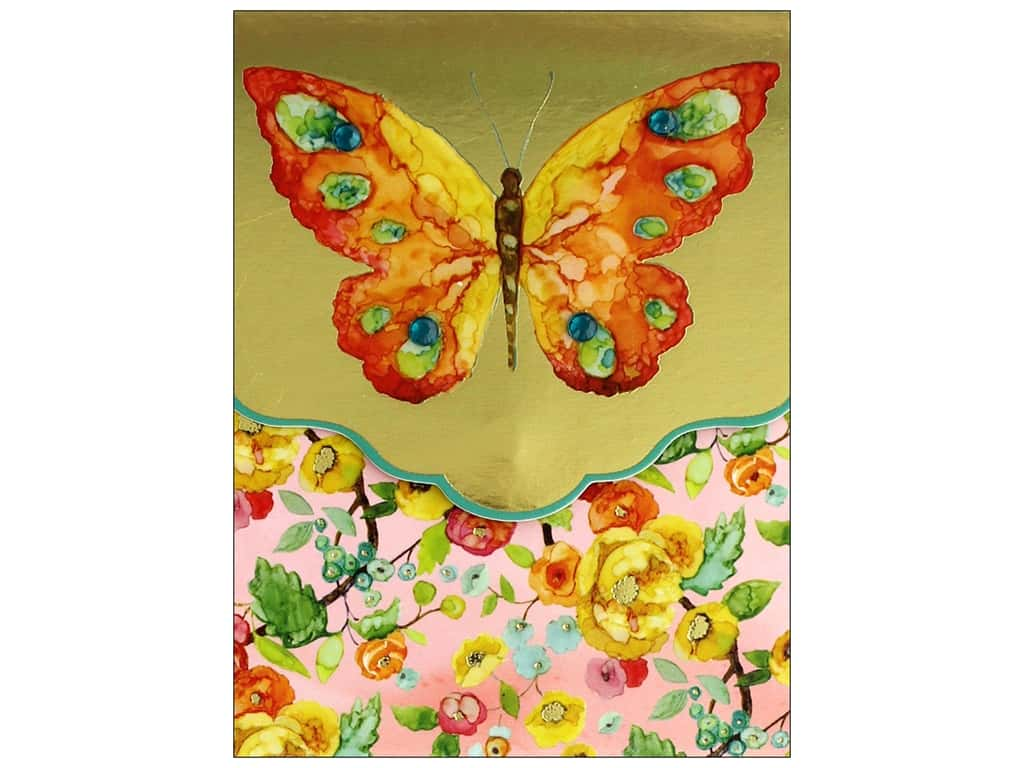 Punch Studio Note Pad Pocket Butterfly