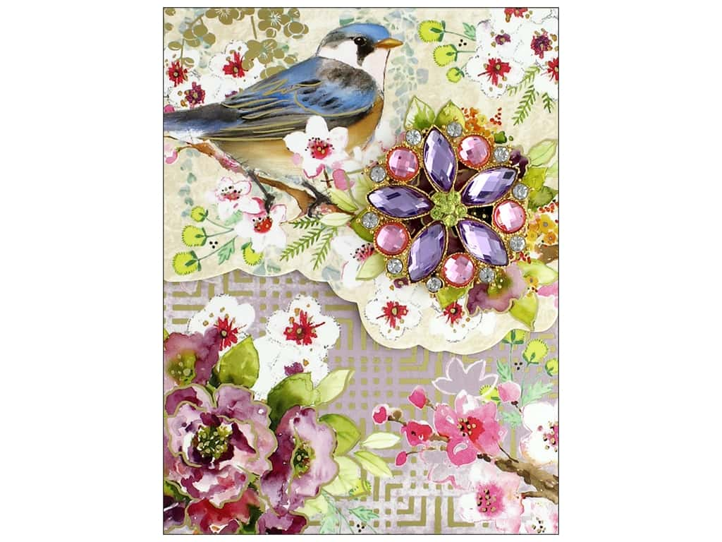 Punch Studio Note Pad Mini Brooch Blue Bird