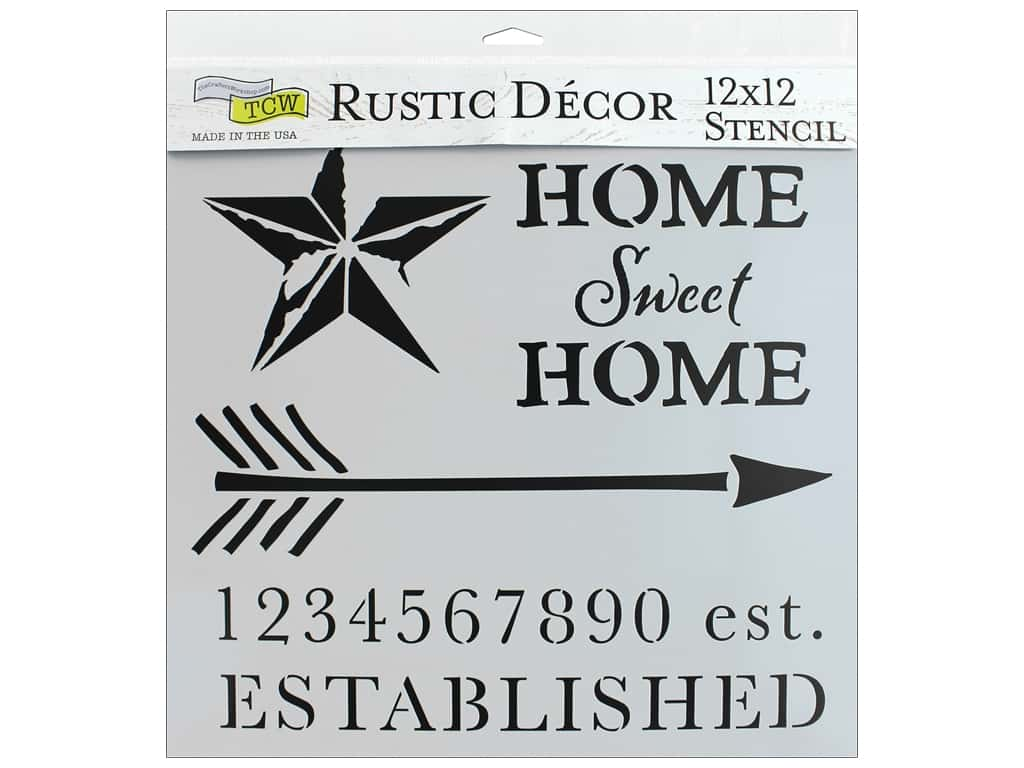 The Crafter's Workshop Stencil 12 in. x 12 in.  Home Sweet