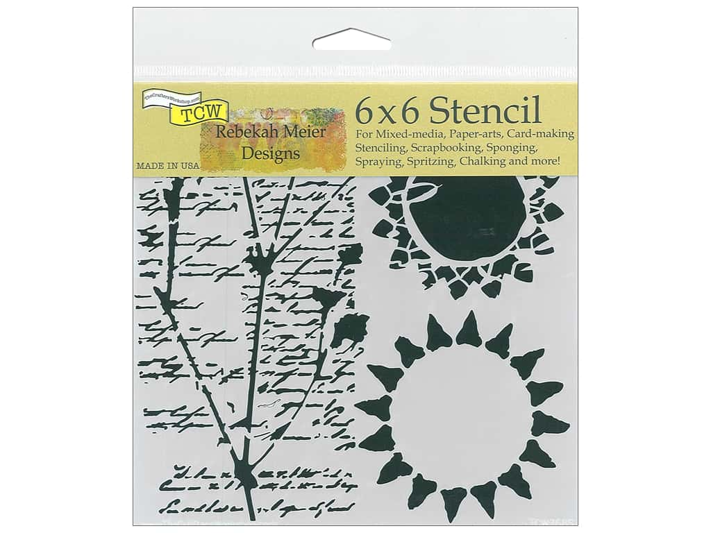 The Crafter's Workshop Stencil 6 in. x 6 in. Journal Musings