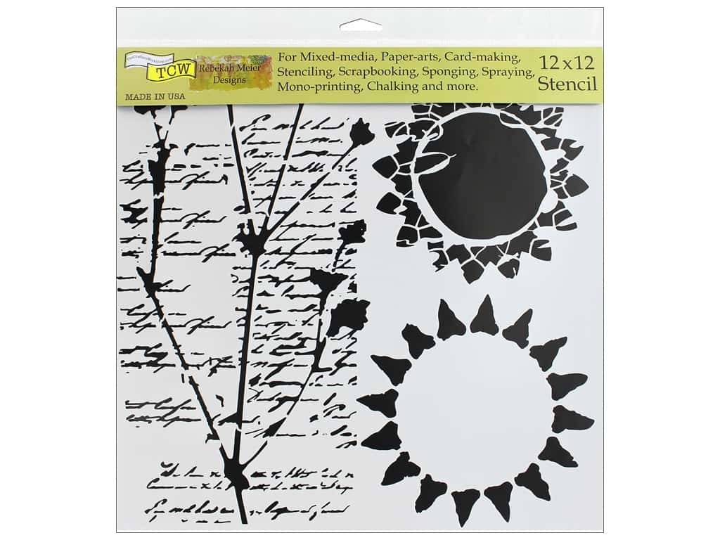 The Crafter's Workshop Stencil 12 in. x 12 in. Journal Musings