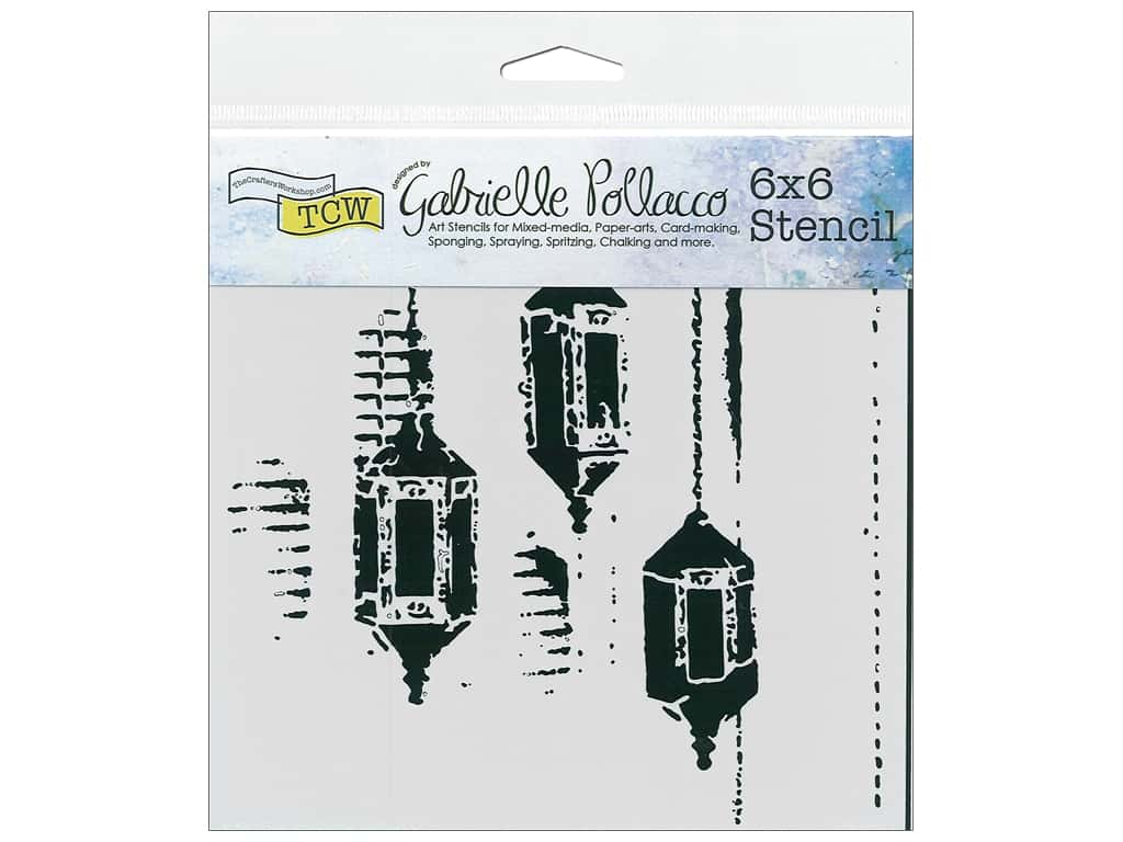 The Crafter's Workshop Stencil 6 in. x 6 in. Exotic Lamps