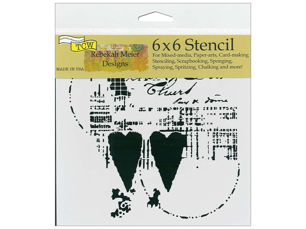 The Crafter's Workshop Stencil 6 in. x 6 in. Two Hearts