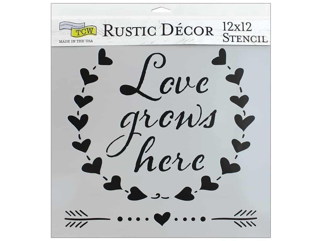 The Crafter's Workshop Stencil 12 in. x 12 in. Love Grows