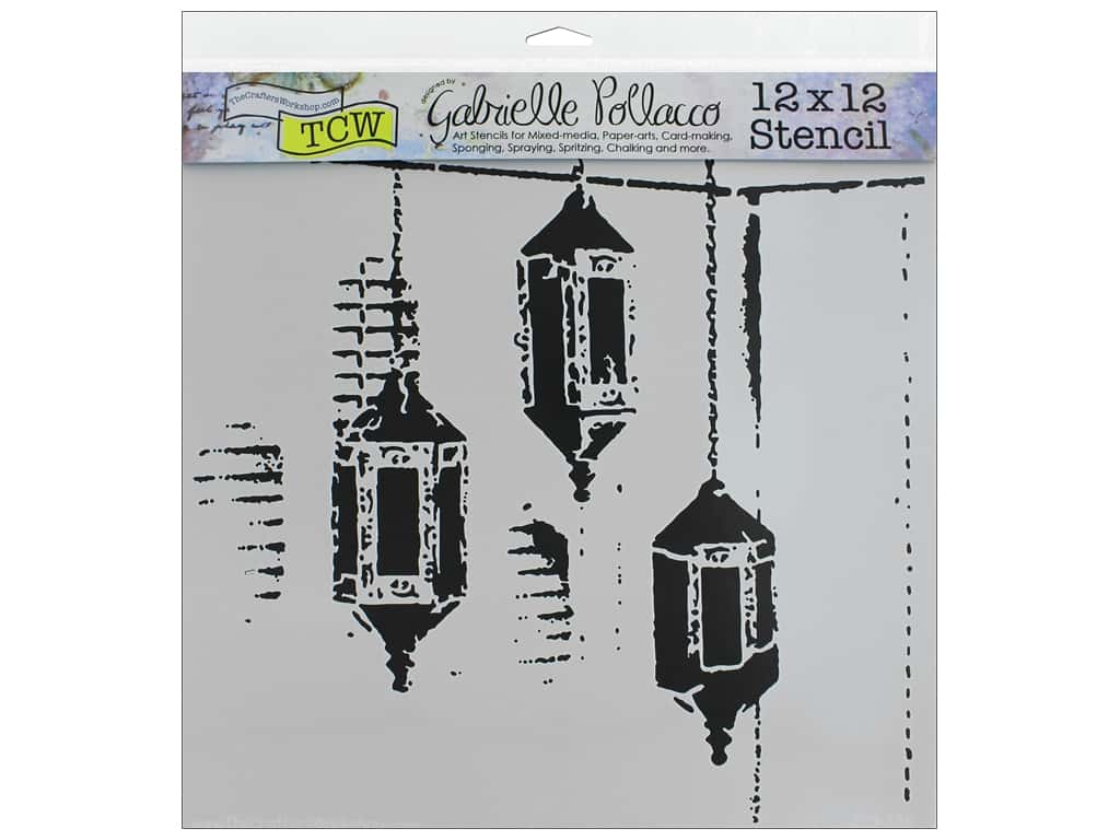 The Crafter's Workshop Stencil 12 in. x 12 in. Exotic Lamps