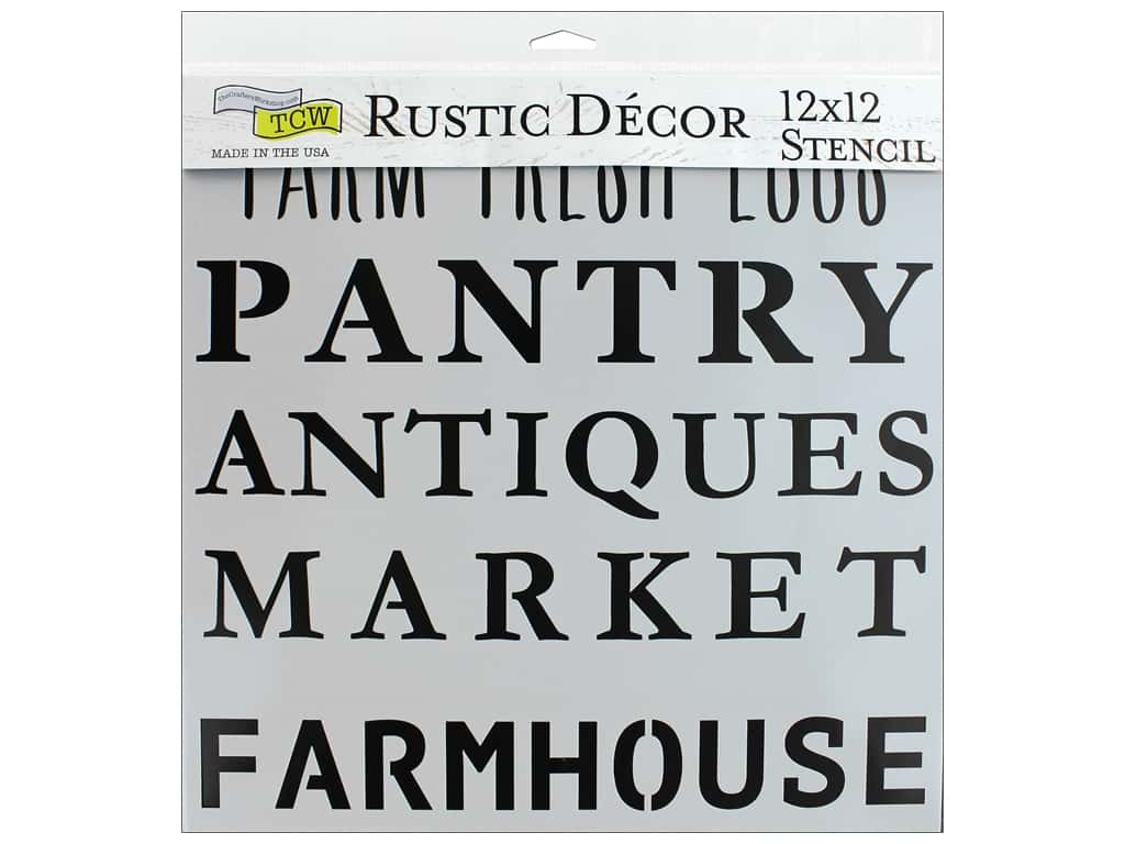 The Crafter's Workshop Stencil 12 in. x 12 in. Rustic Signs