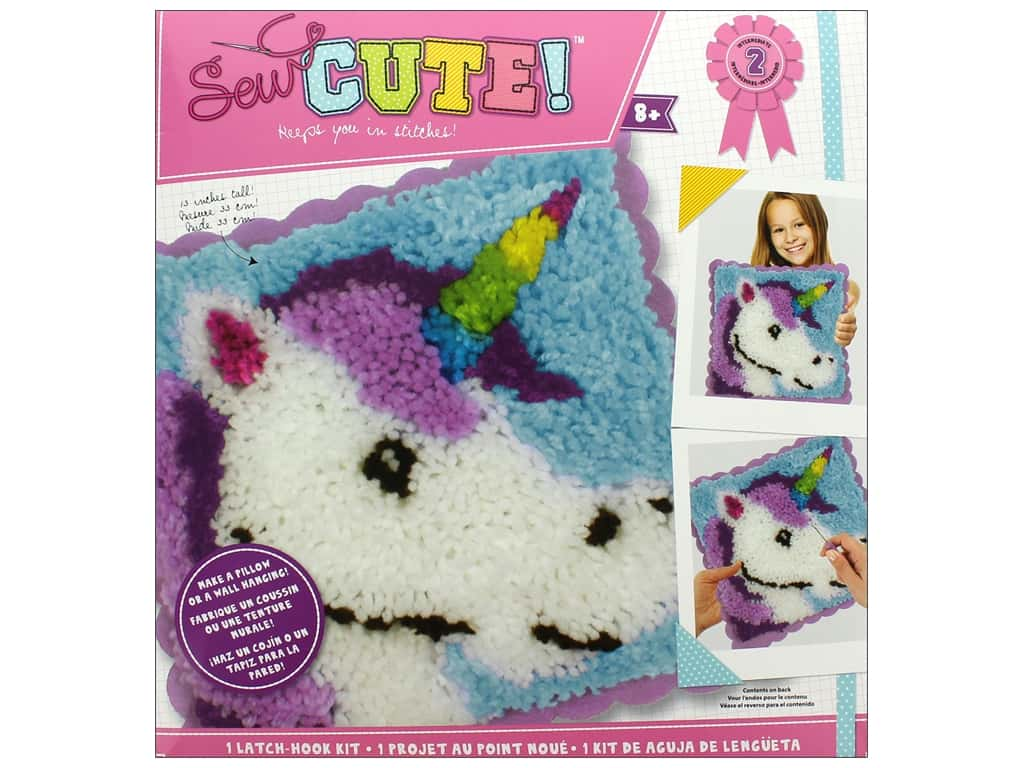 Colorbok Sew Cute! Latch Hook Kit - Unicorn