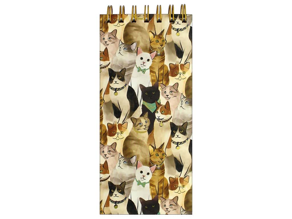 Molly & Rex Note Spiral List Pad Cats