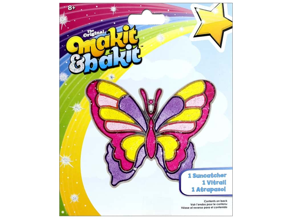 Colorbok Kit Makit Bakit Suncatcher Butterfly