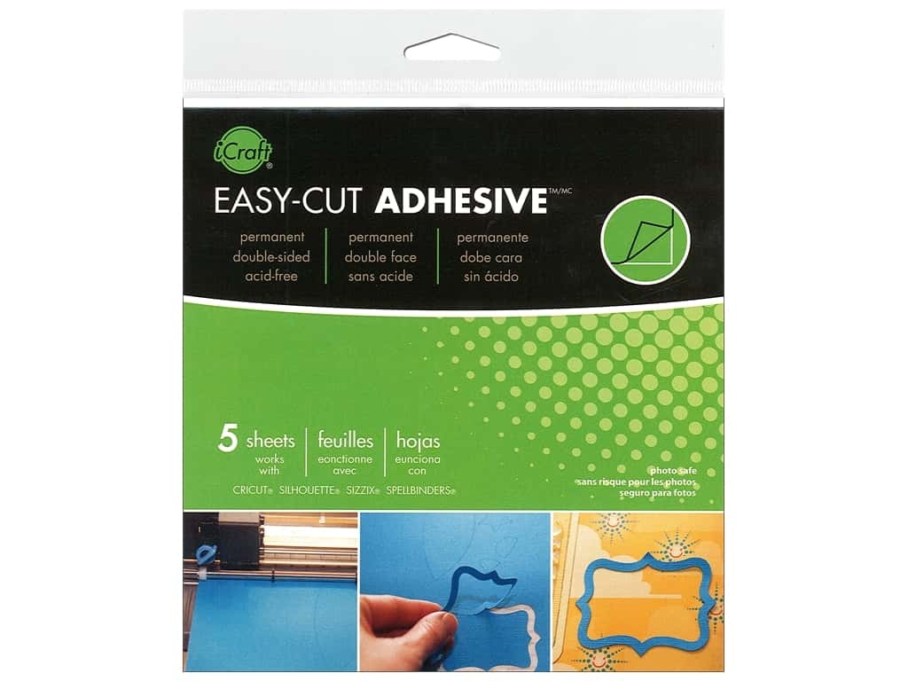 Therm O Web iCraft Easy Cut Adhesive Sheets 5 3/4 in. 5 pc.