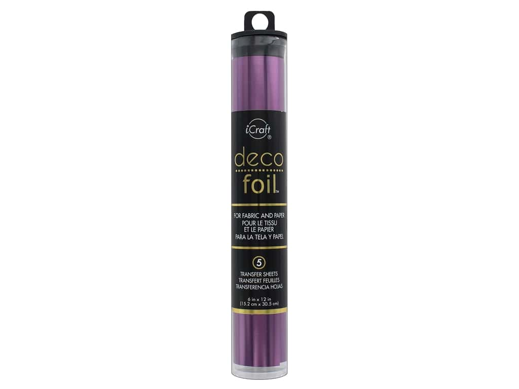 iCraft Deco Foil Transfer 6 in. x 12 in. Tube Plum 5 pc