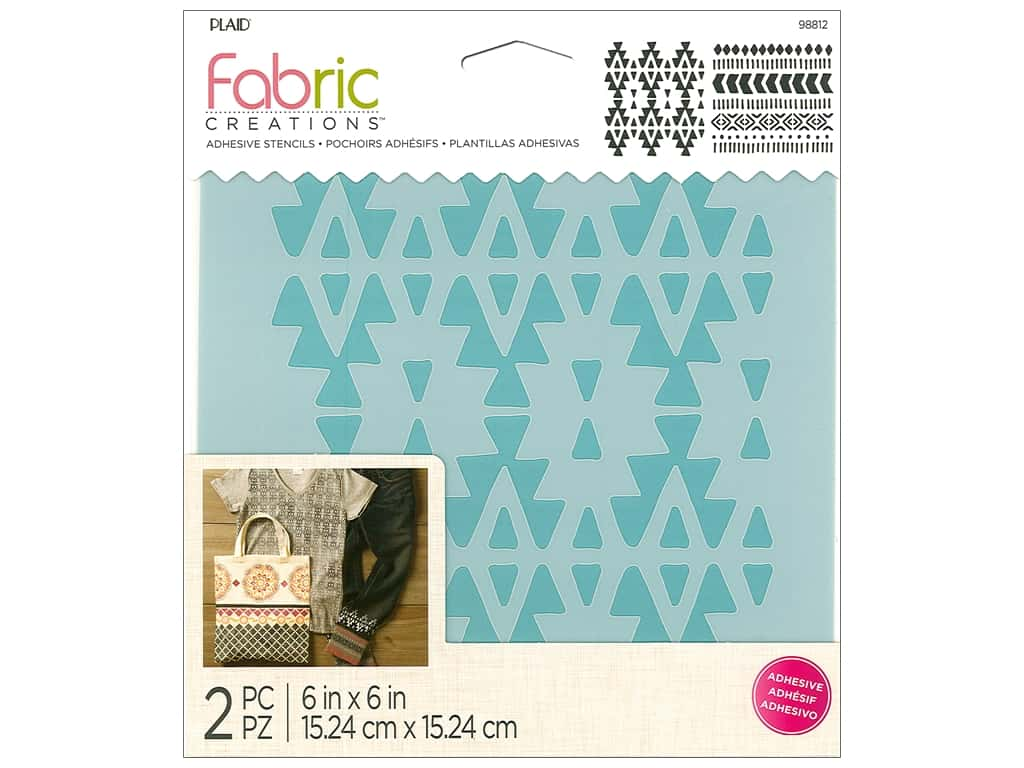Plaid Fabric Creations Adhesive Stencils 6 x 6 in. Aztec