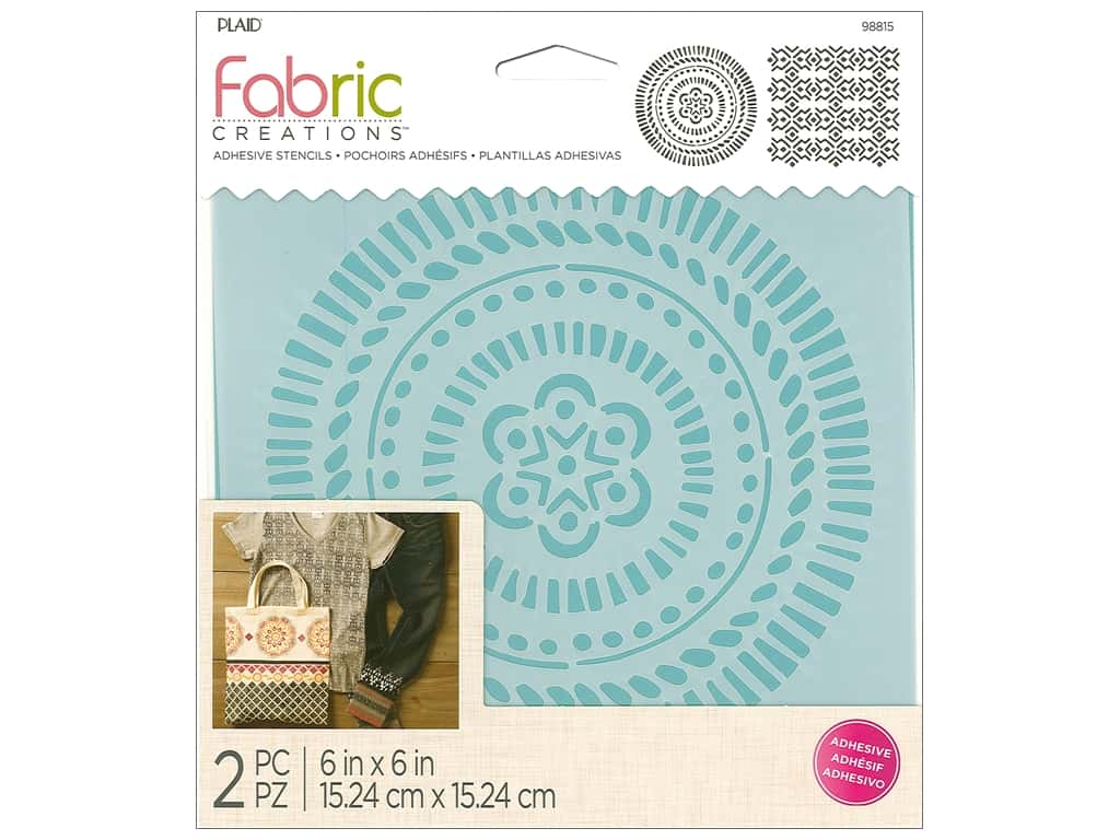 Plaid Fabric Creations Adhesive Stencils 6 x 6 in. Tribal