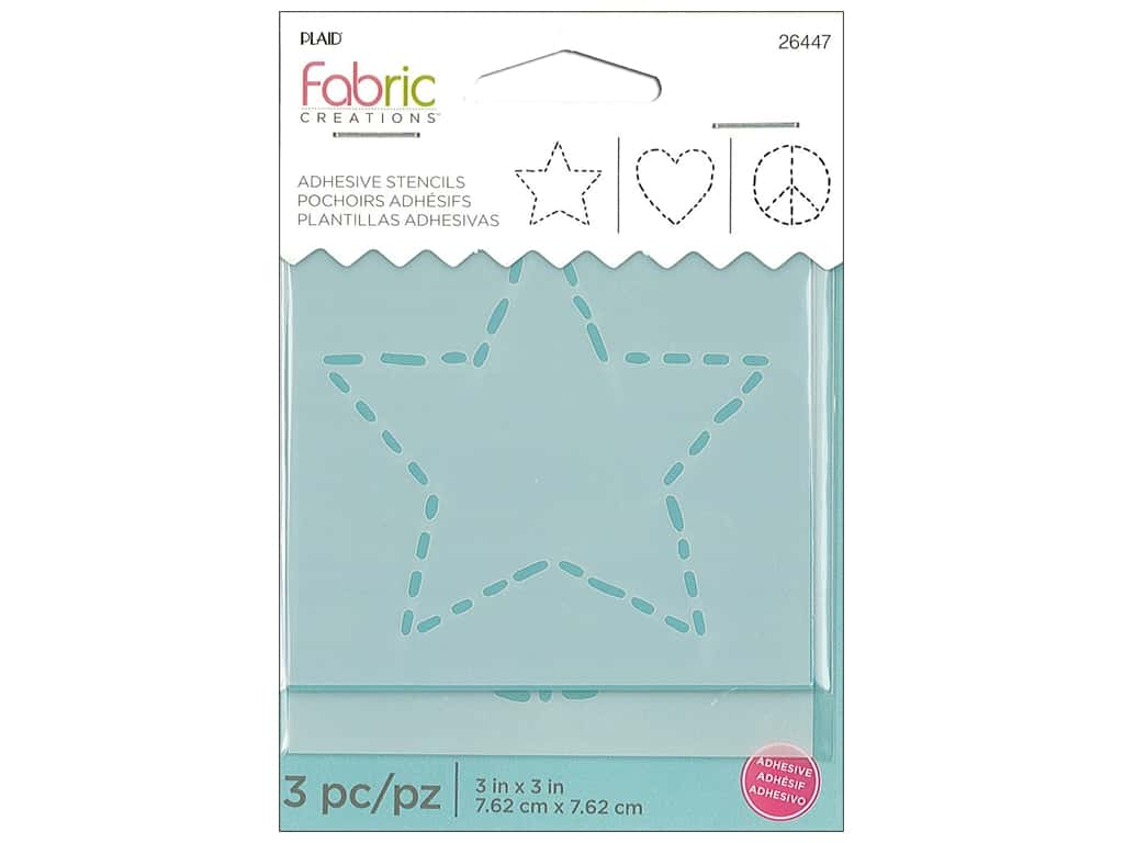 Plaid Fabric Creations Adhesive Stencils 3 x 3 in. Star