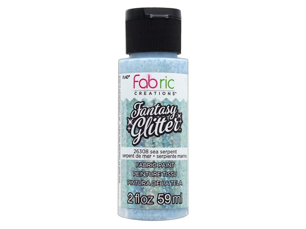 Plaid Fabric Creations Fantasy Glitter Fabric Paint 2 oz. Sea Serpent