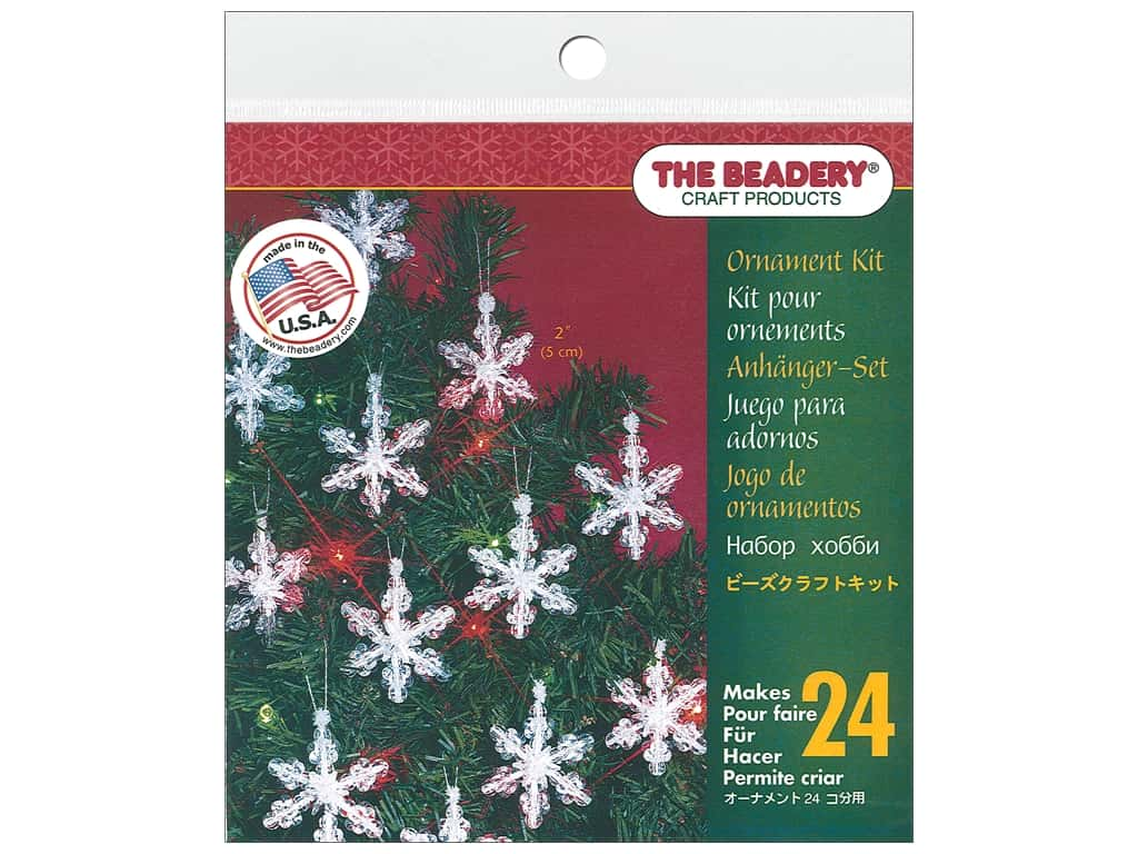 The Beadery Kit Ornament Mini Snowflake