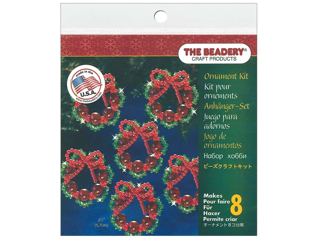 The Beadery Kit Ornament Cranberry Wreath
