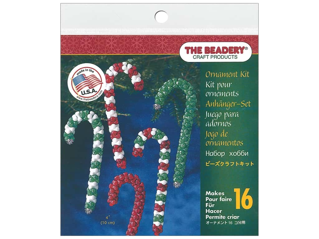 The Beadery Ornament Kit Candy Cane Assorted