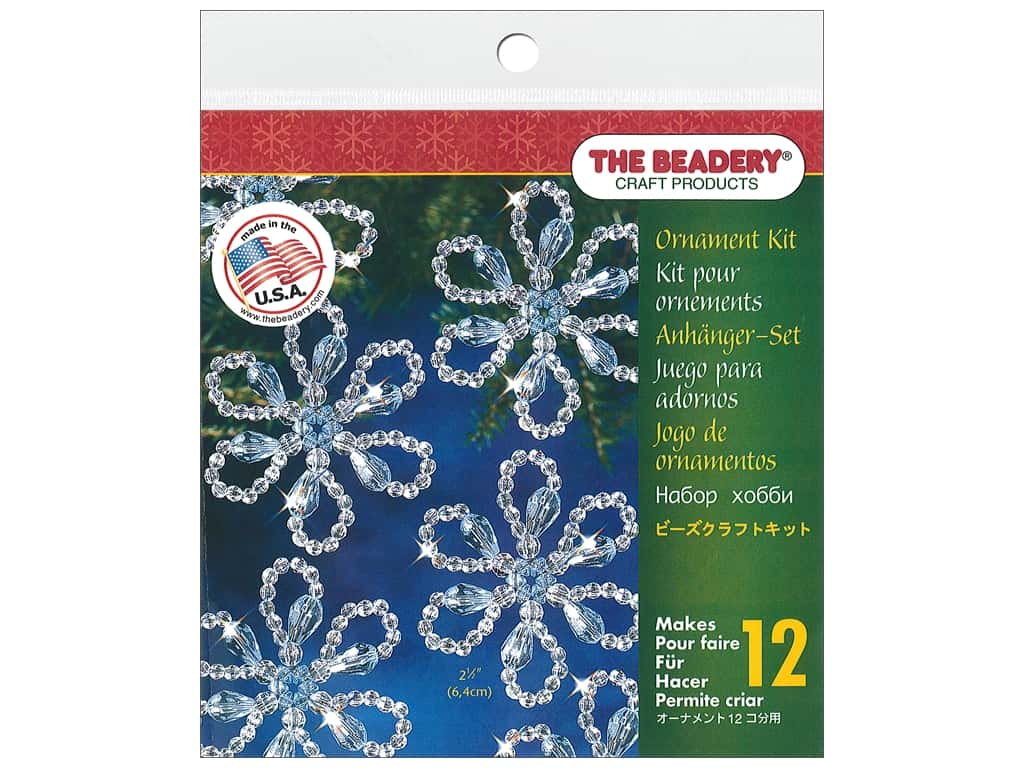 The Beadery Kit Ornament Christmas Flower