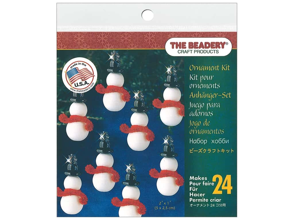 The Beadery Kit Ornament Classic Snowman