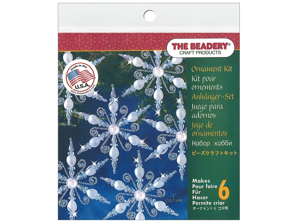 The Beadery Kit Ornament Snowflake Lt Sapphire