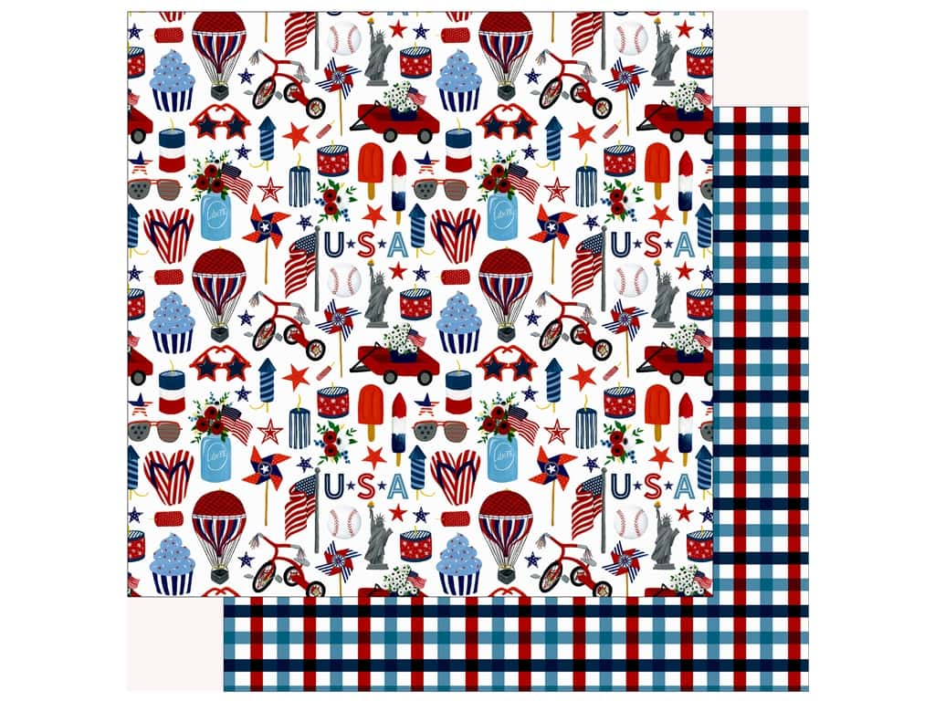 Echo Park Collection Celebrate American Paper 12 in. x 12 in.  Liberty (25 pieces)