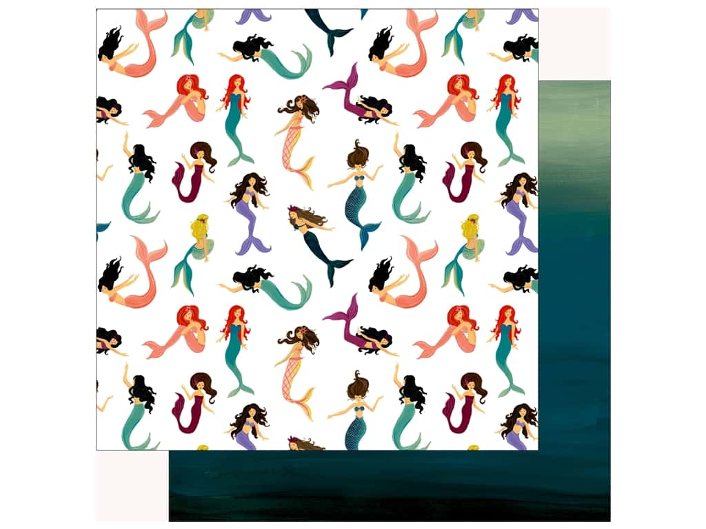 Echo Park Collection Mermaid Tales Paper 12 in. x 12 in. Magical Mermaid (25 pieces)