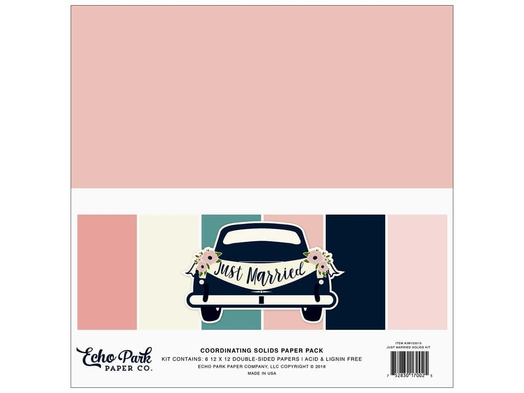 Echo Park Collection Just Married Paper Pack Kit 12 in. x 12 in.