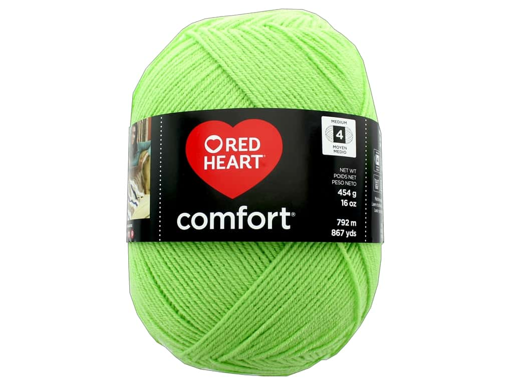 Red Heart Comfort Yarn 867 yd. #3229 Melon Green