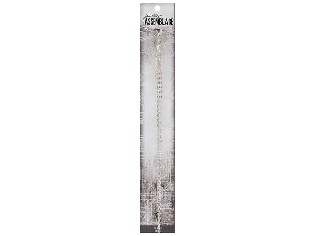 Tim Holtz Assemblage Chain 18 in. Delicate Link Silver