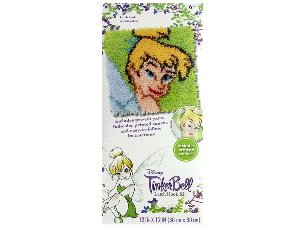 Dimensions Latch Hook Kit 12 in. x 12 in. Disney Tinkerbell