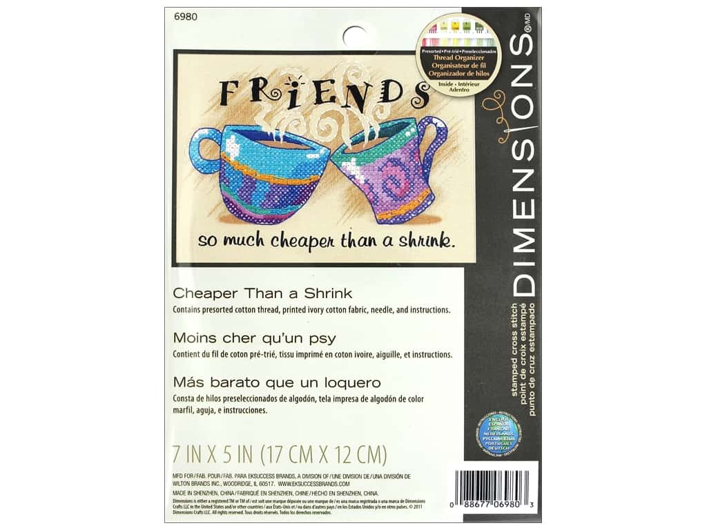 Dimensions Stamped Cross Stitch Kit 7 x 5 in. Cheaper Than a Shrink
